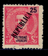! ! St. Thomas - 1913 D. Carlos Local Republica 25 R - Af. 140 - MH - St. Thomas & Prince
