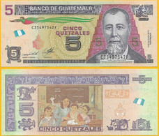 Guatemala 5 Quetzales 2014 P New UNC - Guatemala