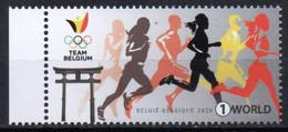 Belgium  2020. Olympic Games In Tokyo. Athletics. Run.  MNH - Nuevos
