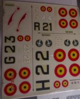 ABT21 Très Rare Décal Années 70 ABT : 1/72e SERIE 1/72e 3 AVIONS BELGES 1940 La Grosse Pâtée !!! - Decalcografie