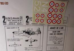 ABT21 Très Rare Décal Années 70 ABT : 1/72e SERIE 1/72e ARMEE DE L'AIR 1939-40 DE 520 ET MS 406 - Decalcografie
