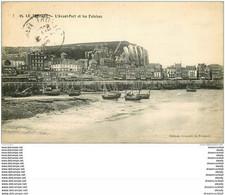 76 LE TREPORT. Avant-Port 1914 Et Falaises - Le Treport