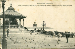 Monte Carlo Kiosque Et Terrasses Giletta 1906 - Terraces