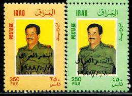 AB1224 Iraq 1988 Saddam's Stamp Of Change Value 2V Catalogue 15 US Dollars MNH - Iraq