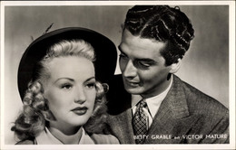 CPA Schauspielerin Betty Grable, Schauspieler Victor Mature - Acteurs