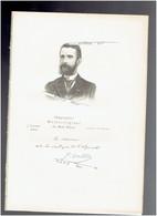 JOSEPH VALLOT 1854 LODEVE 1925 NICE ASTRONOME GEOGRAPHE NATURALISTE PORTRAIT AUTOGRAPHE BIOGRAPHIE ALBUM MARIANI - Documents Historiques