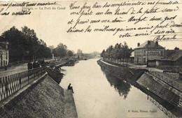 RETHEL Le Port Du Canal Peniches  RV T + Timbre Taxe - Rethel
