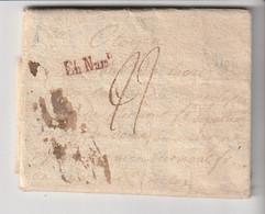 """Lettre Avec Marques """" En Numéraire"""", """"Clermont"""", Taxes, Texte à étudier, An  II /1794 - 1701-1800: Vorläufer XVIII"""