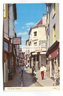 Folkestone High Street - C1970's Kent Postcard - Folkestone