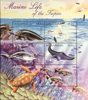 Antigua 2001 Marine Life Birds Turtles Fish Seals Sheetlet MNH - Marine Life