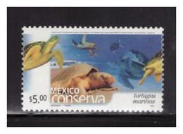 2002 MÉXICO CONSERVA TORTUGAS MARINAS $5.00 MNH, SEA TURTLES DEFINITIVE SERIES, PERF. 14 - Mexique