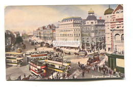 Elephant And Castle, London - Trams, Horse Carriages - Old Postcard - Altri