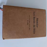 Baedeker, Les Bords Du Rhin,  1910    Avec 63 Cartes Et 63 Plans, - Dictionaries