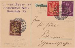 Inflation:  Postkarte Von Zehlendorf Nach Göttingen 3.4.1923 - Zonder Classificatie
