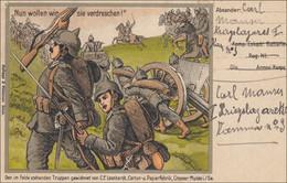 Belgien:  Feldpostkarte - Propaganda I. Weltkrieg - Von Brüssel 1915 - Zonder Classificatie
