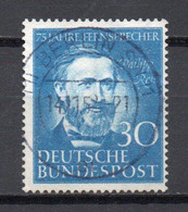 - RFA N° 46 Oblitéré - 30 P. Bleu Vif Philipp Reis 1952 - Cote 22,00 € - - Used Stamps
