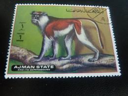 AJMAN  State And Its Dependencies - Singe - 1 Dirham - Postage - Polychrome - DoubleOblitéré - Année 1972 - - United Arab Emirates (General)