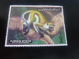 AJMAN  State And Its Dependencies - Singe - 2 Dirhams - Postage - Polychrome - Oblitéré - Année 1972 - - United Arab Emirates (General)