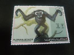 AJMAN  State And Its Dependencies - Singe - 3 Dirhams - Postage - Polychrome - DoubleOblitéré - Année 1972 - - Emirats Arabes Unis (Général)