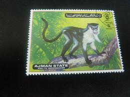 AJMAN  State And Its Dependencies - Singe - 5 Dirhams - Postage - Polychrome - Oblitéré - Année 1972 - - Emirats Arabes Unis (Général)