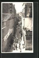 Foto-Cartolina Taormina, Casa Svizzera Hotel Metropole, Strassenpartie - Altre Città