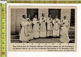 58267 - SEPT PRETRES NOIRS DE L OUGANDA ( AFRIQUE ORIENTALE ) ADOPTES PAR DES BIENFAITEURS - Oeganda