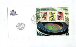 Lettre Fdc 1988 Bloc Jeu Olympique - FDC