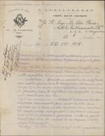 Franc Maçonnerie Lettre + Beau Cachet Loge De La Libre Pensée Orient Narbonne Aide Aux Vignerons Révolte Du Midi - Other