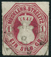 Oblit. N°4  1 Silb Rose - TB - Mecklenburg-Strelitz