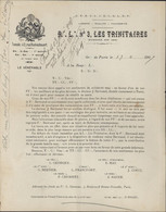 Franc Maçonnerie Loge Les Trinitaires Orient Paris 1907 Demande Aide Pr Veuve De L'atelier Grande Loge De France - Other