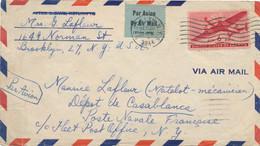 USA FLEET POST OFFICE Lettre Avion 26/12/44 > Dépot Equipages De La Flotte CASABLANCA MAROC Poste Navale - US NAVY - Poste Navale