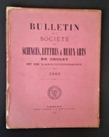 CHOLET 1889 Bulletin De La Société Des Sciences Lettres Et Beaux Arts. Notamment étude Sur Michel Louis Talot - Riviste - Ante 1900