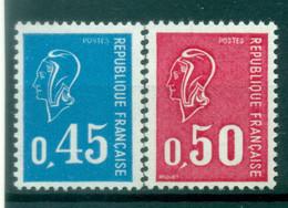 France 1971 - Y & T  N. 1663/64 - Type Marianne De Béquet - 1971-76 Marianne Of Béquet
