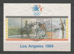 Belgium 1984 Ol. Games Los Angeles S/S OCB BF 60 (0) - Blocs 1962-....