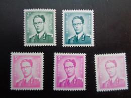 1066 1066a 1067 1067a 1067b Xx MNH Kleuren - Couleur Boudewijn Marchand - 1953-1972 Occhiali