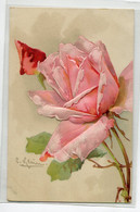 ILLUSTRATEUR Catharina KLEIN  Gauffrée Fleurs RosesEdit C.C -1910    D05 2020 - Klein, Catharina