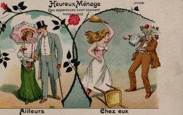 Illustrée HUMOUR 1900 : Heureux Ménage ... - Humour