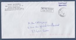 """Pli Sans Timbre, Cachet D'oblitération 31.8.21 Et Tampon """"ne Pas Taxer S3C Cestas"""" - 1960-.... Briefe & Dokumente"""