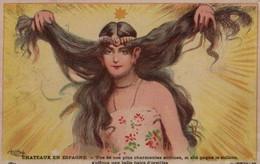 Illustrée HUMOUR 1900 : Signée Charmante Actrice Avec De Grandes Oreilles - Humour