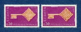 ⭐ France - Variété - YT N° 1556 - Couleurs - Pétouille - Neuf Sans Charnière - 1968 ⭐ - Varieties: 1960-69 Mint/hinged