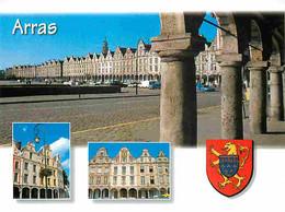 62 - Arras - Multivues - Blasons - Automobiles - Carte Neuve - CPM - Voir Scans Recto-Verso - Arras