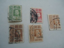 SIAM THAILAND    USED   STAMPS  KINGS - Siam