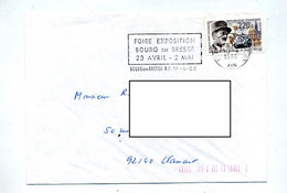 Lettre Flamme Bourg En Bresse Foire - Mechanical Postmarks (Advertisement)