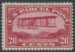 USA Pa 8 *, Scott Q 8, 1912, 20 C. Doppeldecker Wright, Mehrere Falzreste, Pracht, $ 120 - Ungebraucht
