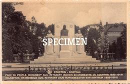 Parc Du Peuple Monument Aug. Reynaert - Courtrai - Kortrijk - Kortrijk