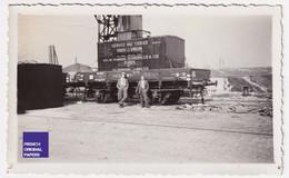 Gare De Rouen Martainville Photo Animée 1934 11x6cm Marchandise Wagon Train Container Paris London Schenker Port A55-51 - Luoghi