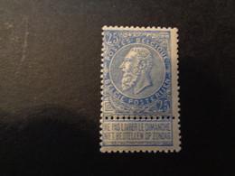 60 Xx MNH 25c Blauw - Bleu - 1893-1900 Barba Corta