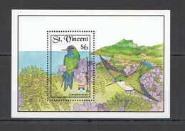 ZZ624 ST. VINCENT FAUNA BIRDS HUMMINGBIRDS BL MNH - Kolibries