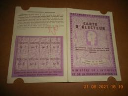 Carte D'électeur - Marquise (62) Be - Unclassified