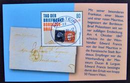 "Bund/BRD September 2021,  Block 88 ""Tag Der Briefmarke-Bordeaux-Brief"", MiNr 3623, Ersttagsgestempelt - Gebruikt"
